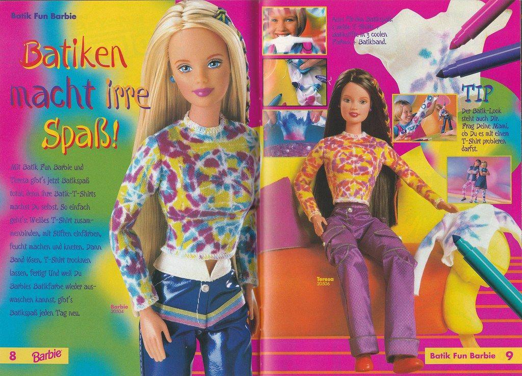 1998 Tie Dye Barbie Teresa Barbie Poupee