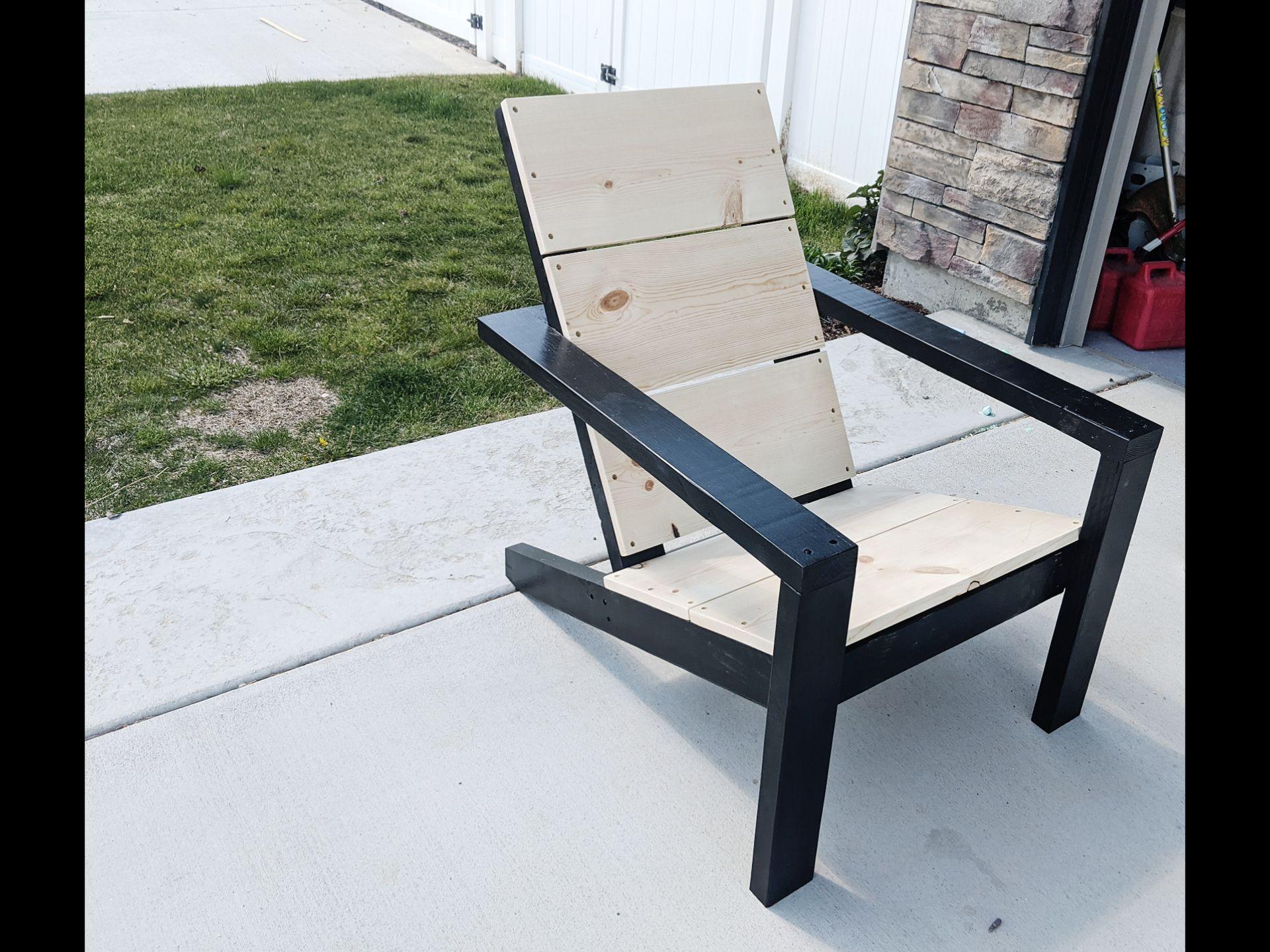 Modern Adirondack Chairs Ana White in 2020 Modern