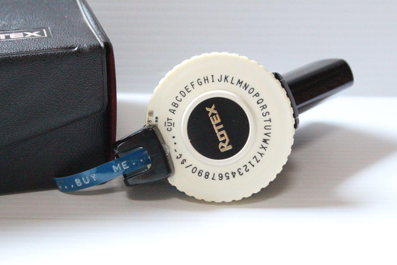 rotex label maker vintage label maker in box label maker with tape