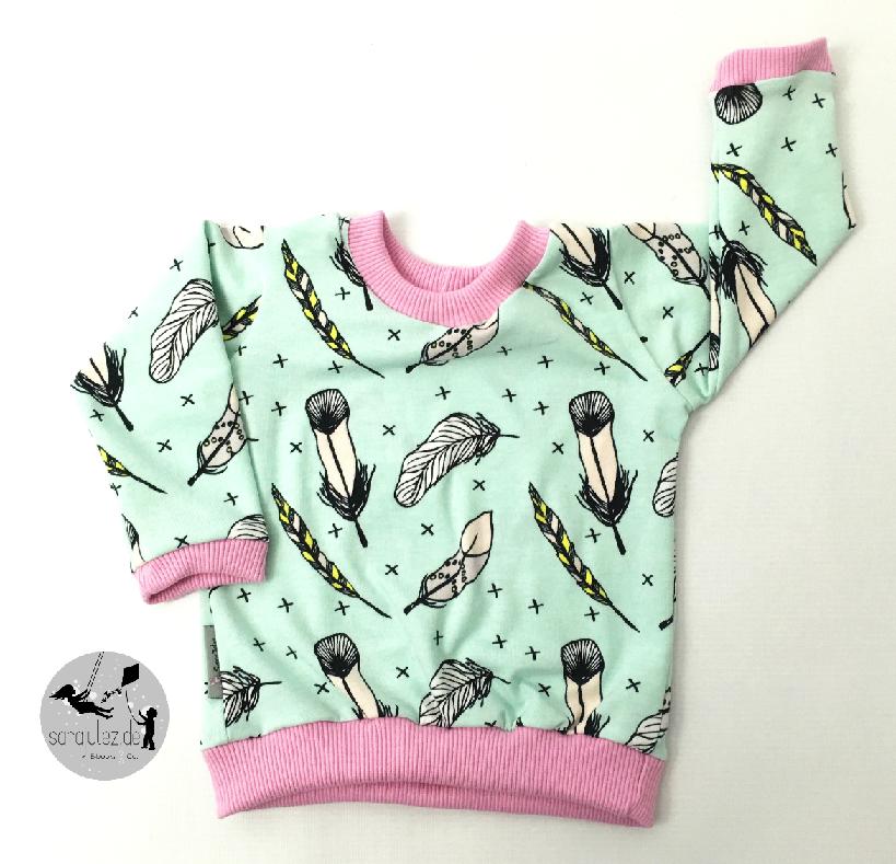 Kostenloses Schnittmuster und Anleitung für Babypullover #shirtschnittmuster