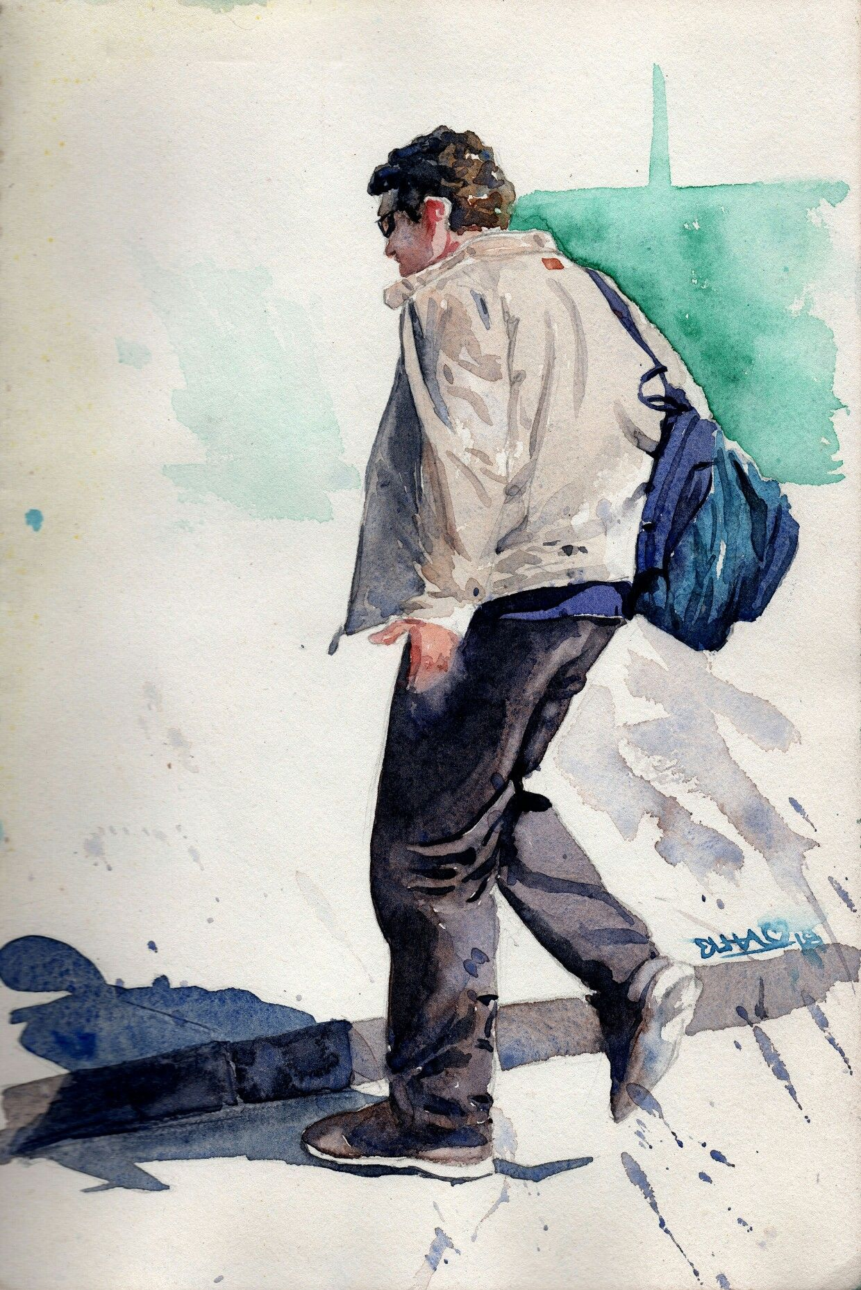 Watercolor Painting By Rajkumar Sthabathy 25 Watercolor