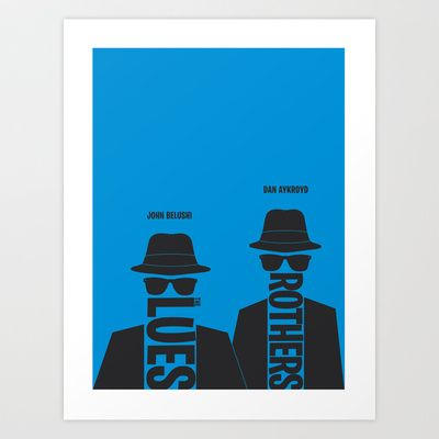 Love it! The Blues Brothers minimalist poster Art Print by Hunter Langston Designs - $19.00