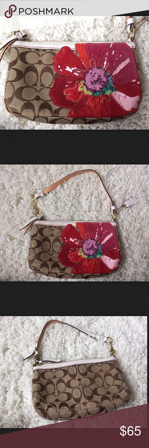 Buy coach poppy flower bag height 52721 60770 low cost coach signature poppy flower bag authentic coach signature handbag gorgeous poppy flower detail new mightylinksfo