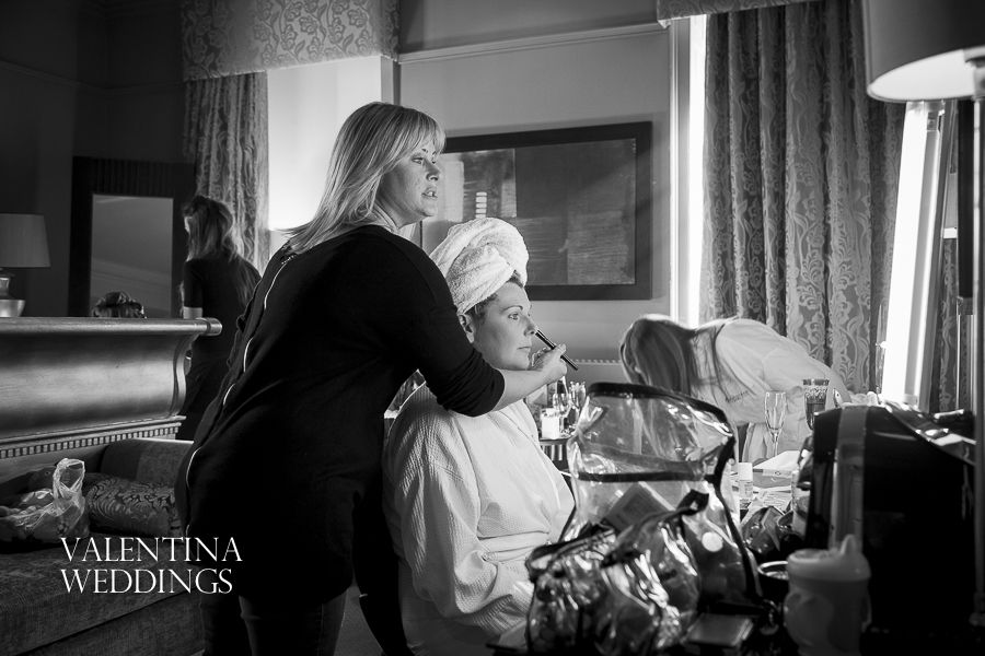 Wedding photography at Wood Hall Hotel in