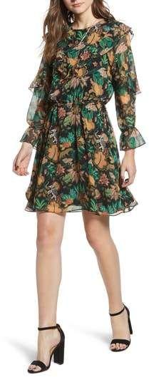 38150eea69a9 Scotch & Soda Forest Print Ruffle Dress   Products   Ruffle dress ...
