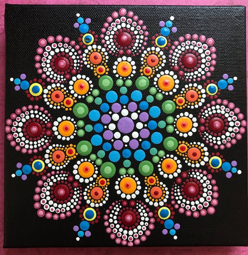 Special Order For Aubri Only Canvas 1 Etsy In 2021 Dot Art Painting Mandala Dots Dot Painting