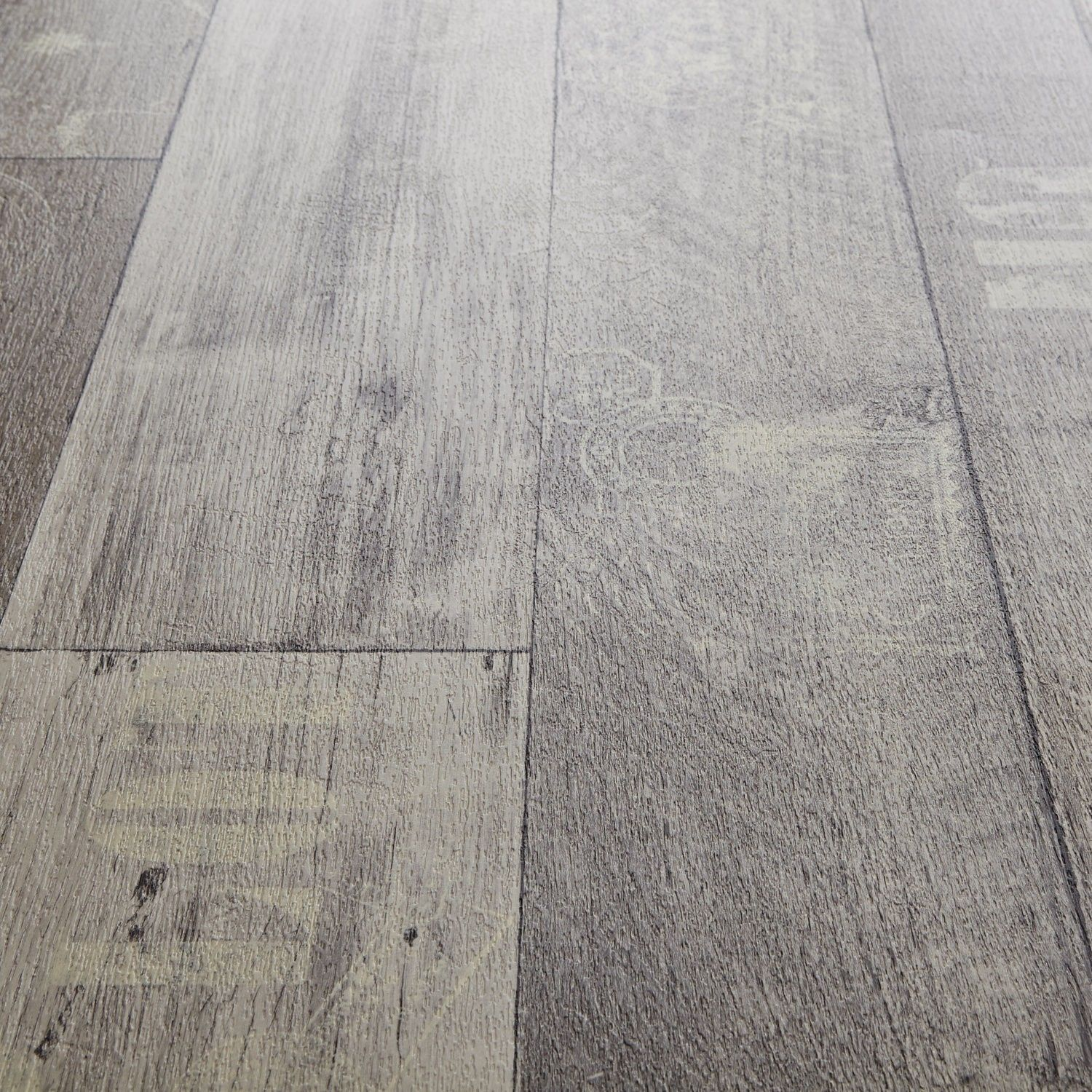 Grey Kitchen Lino: Rhino Style Travel Wood Effect Vinyl Flooring