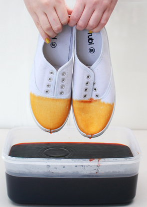 #diy dip dye shoes