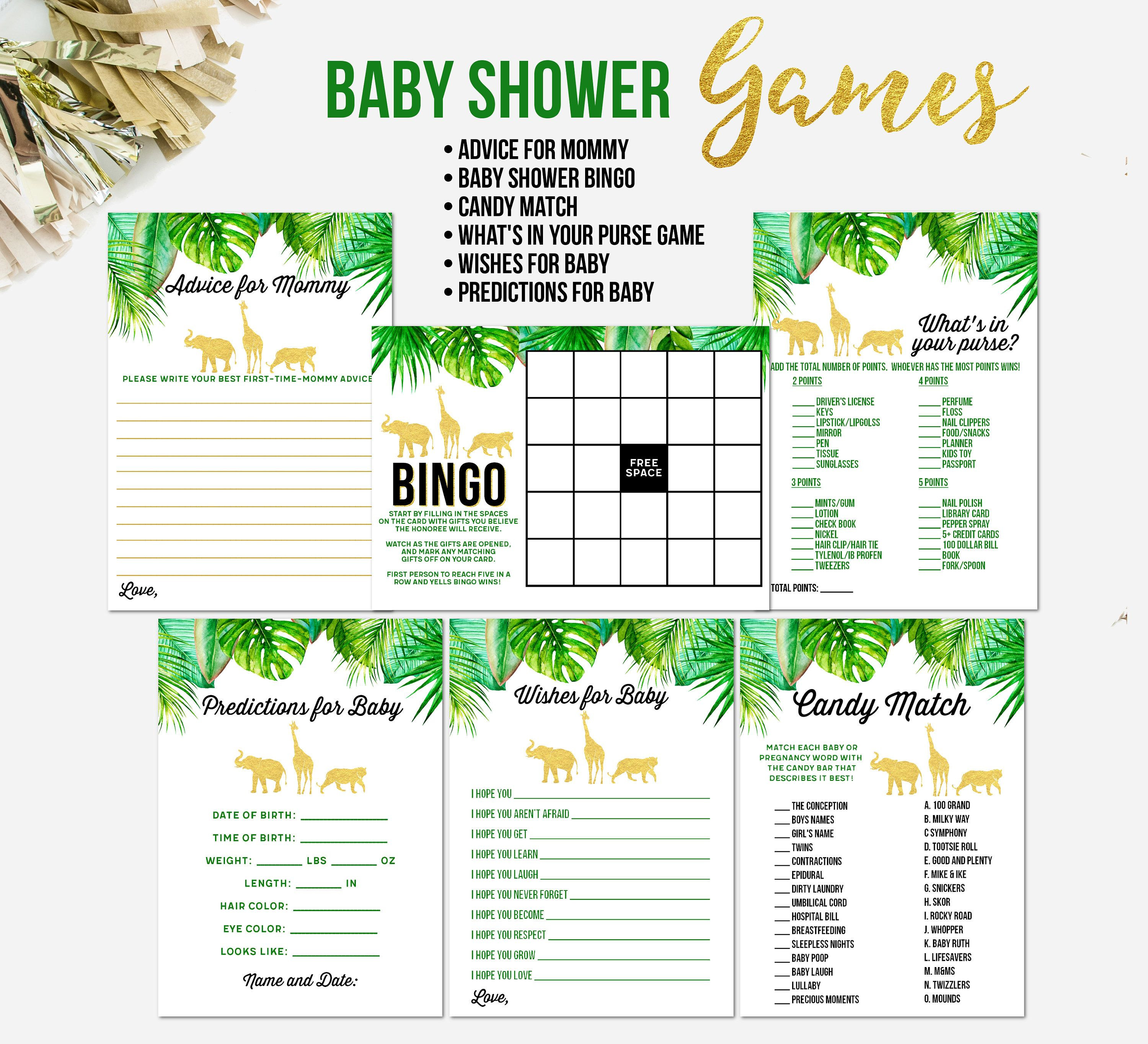 This is a graphic of Invaluable Baby Shower Printouts