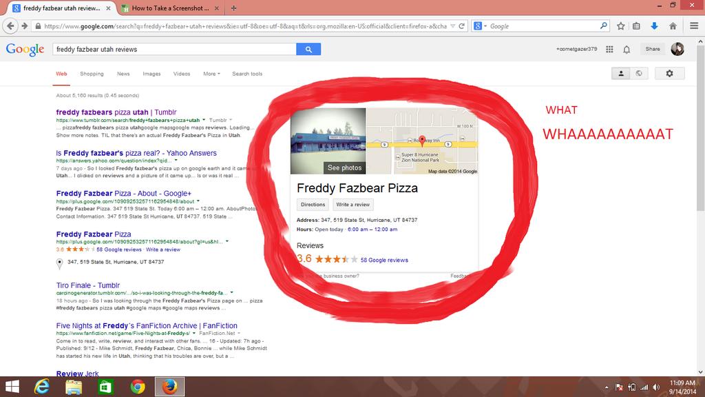 freddy fazbear pizza real number