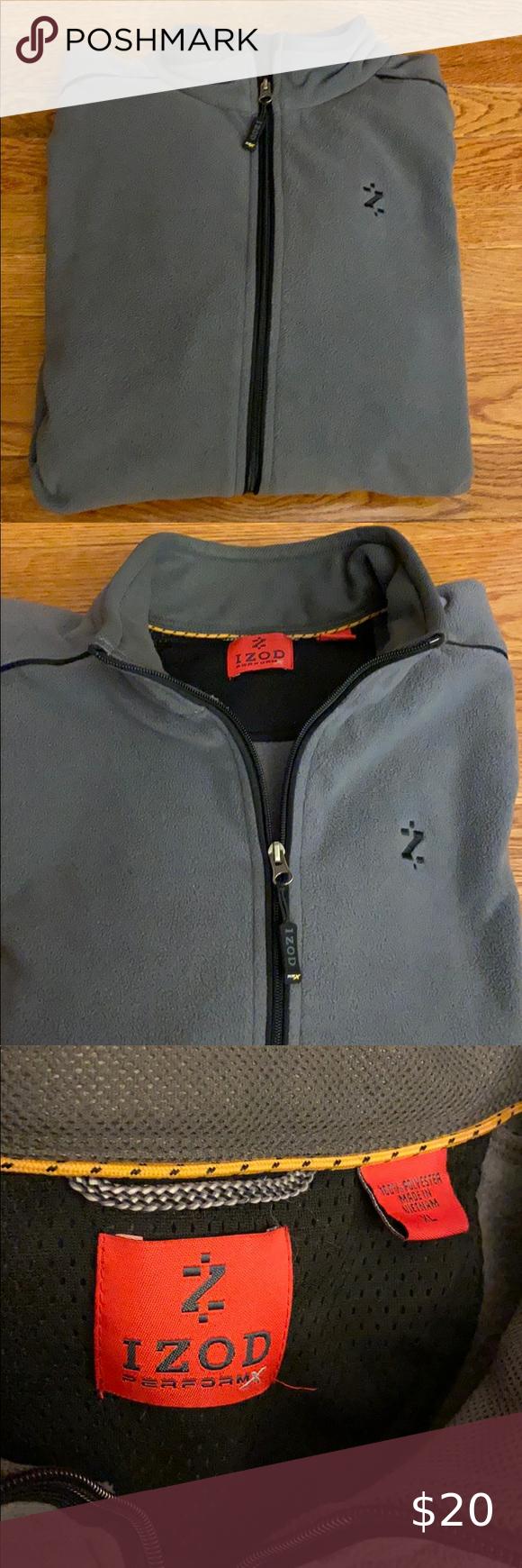 Men S Izod Fleece Jacket Jackets Fleece Jacket Clothes Design [ 1740 x 580 Pixel ]