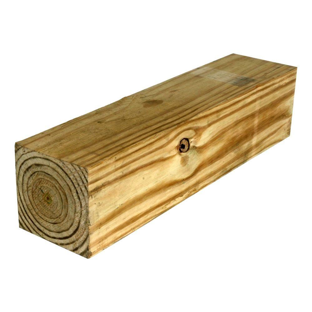 Null 6 In X 6 In X 12 Ft 2 Pressure Treated Timber Pressure Treated Timber Pine Timber Home Depot