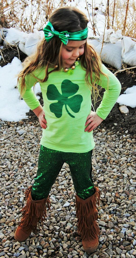 d485bdbb 8-9 YRS Girl's St Patrick's Day Green Clover Sequin Shamrock Boutique  Outfit, Toddler Girls, Kids Clothes, Children's Clothing | Cute outfits | St  …