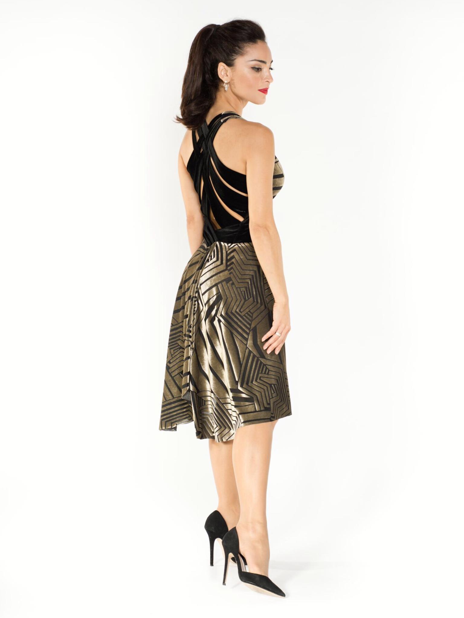 c07ba2900e4 Six straps velvet devore dress