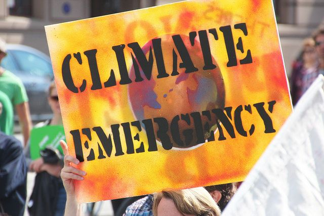 Climate change protest poster