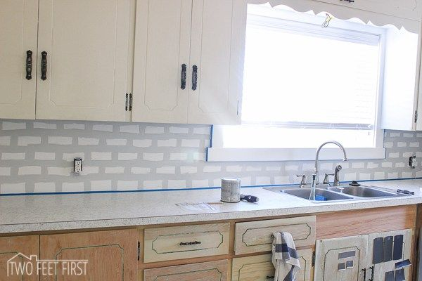 DIY Cheap Kitchen Backsplash Subway tile backsplash, Subway tiles