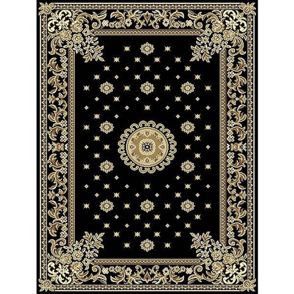 Traditional Rug Black 67 x 300cm ($51) via Polyvore