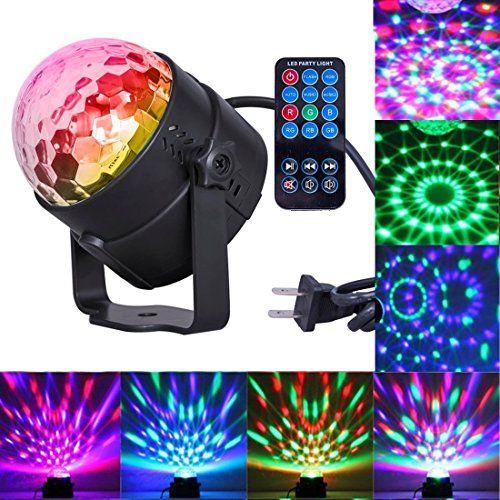 Comwinn Disco Lights Sound Activated Strobe Light Disco B ...