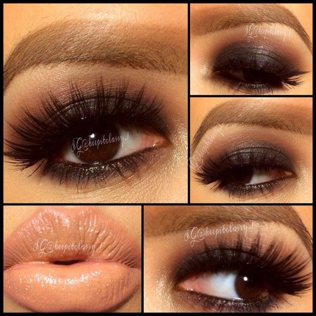 Kiss Makeup Designs: Gorgeous Smokey Eyes And Nude Lip Combo!