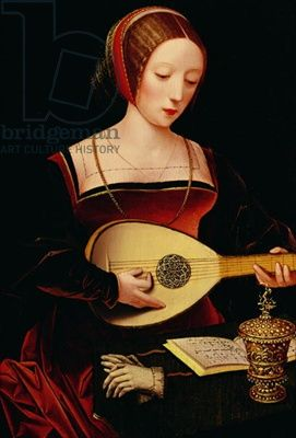 The Lute Player (oil on canvas)
