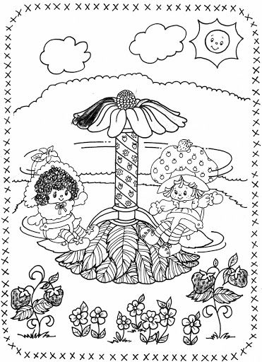 USED COLORING BOOK~Strawberry Shortcake and Her Friends