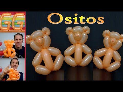 como hacer ositos con globos - globoflexia facil - oso con globos