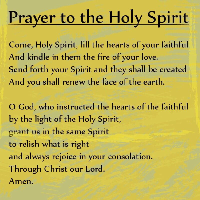This is a prayer to the Holy Spirit from Dominican Sisters ...
