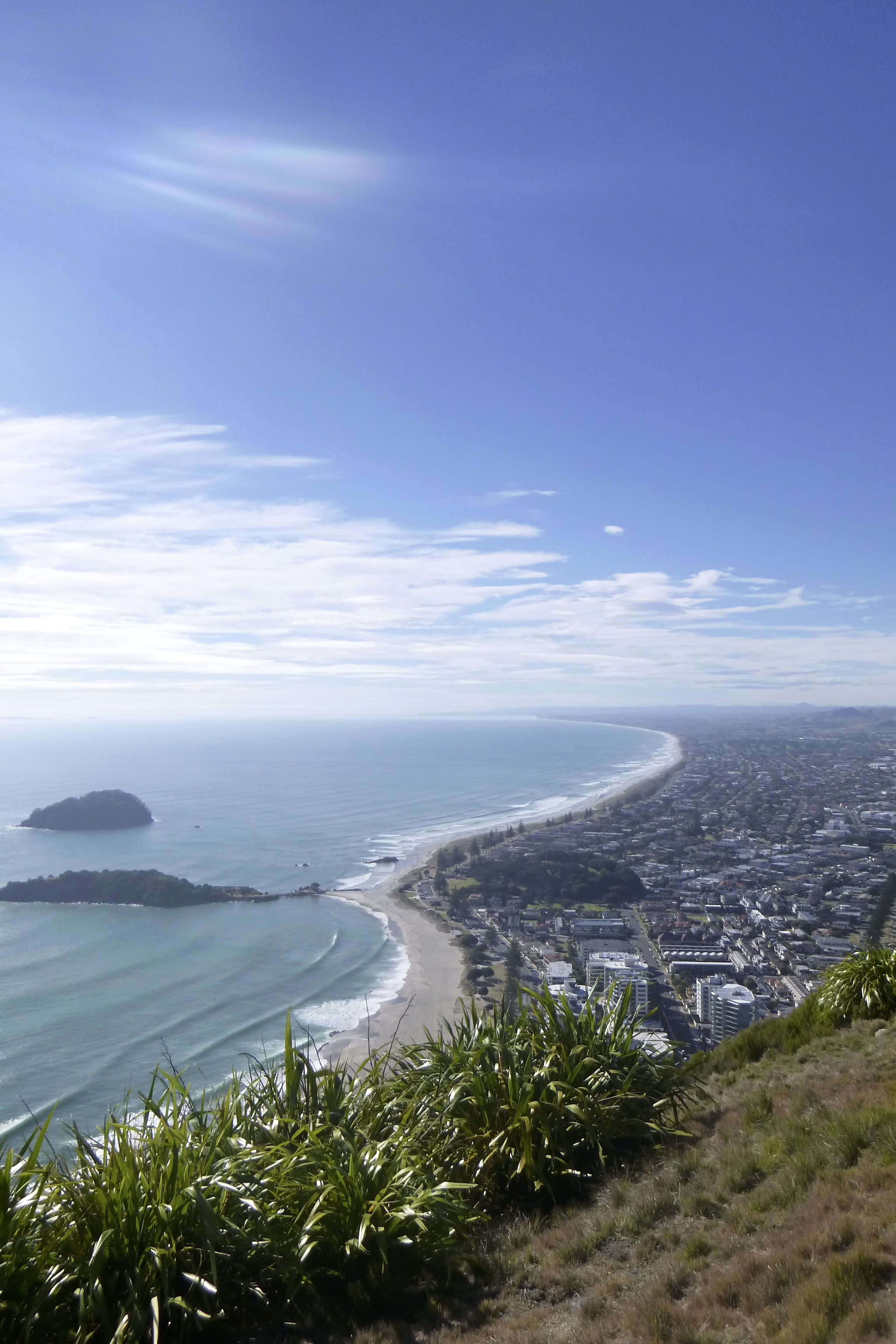 Mount Maunganui Summit its a 30min1hr walk up and this