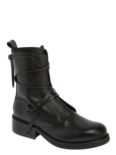 BikkembergsSQUADRON LACE-UP LEATHER BOOTS