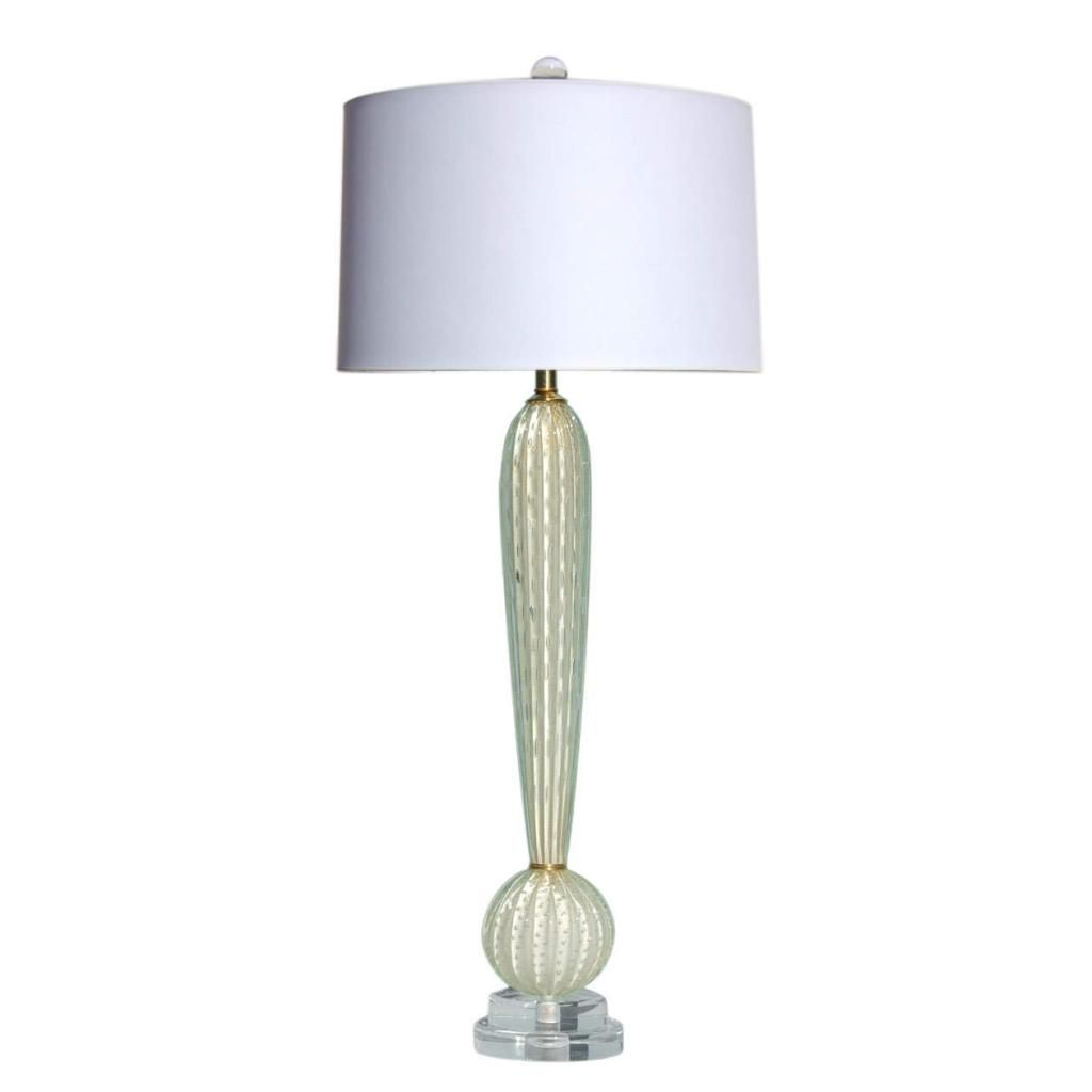White Gold Exclamation Point Murano Lamp Murano Lamp Lamp Table Lamp