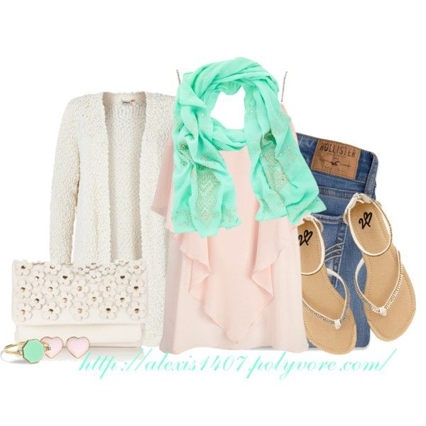 """Mint Scarf"" by alexis1407 on Polyvore"