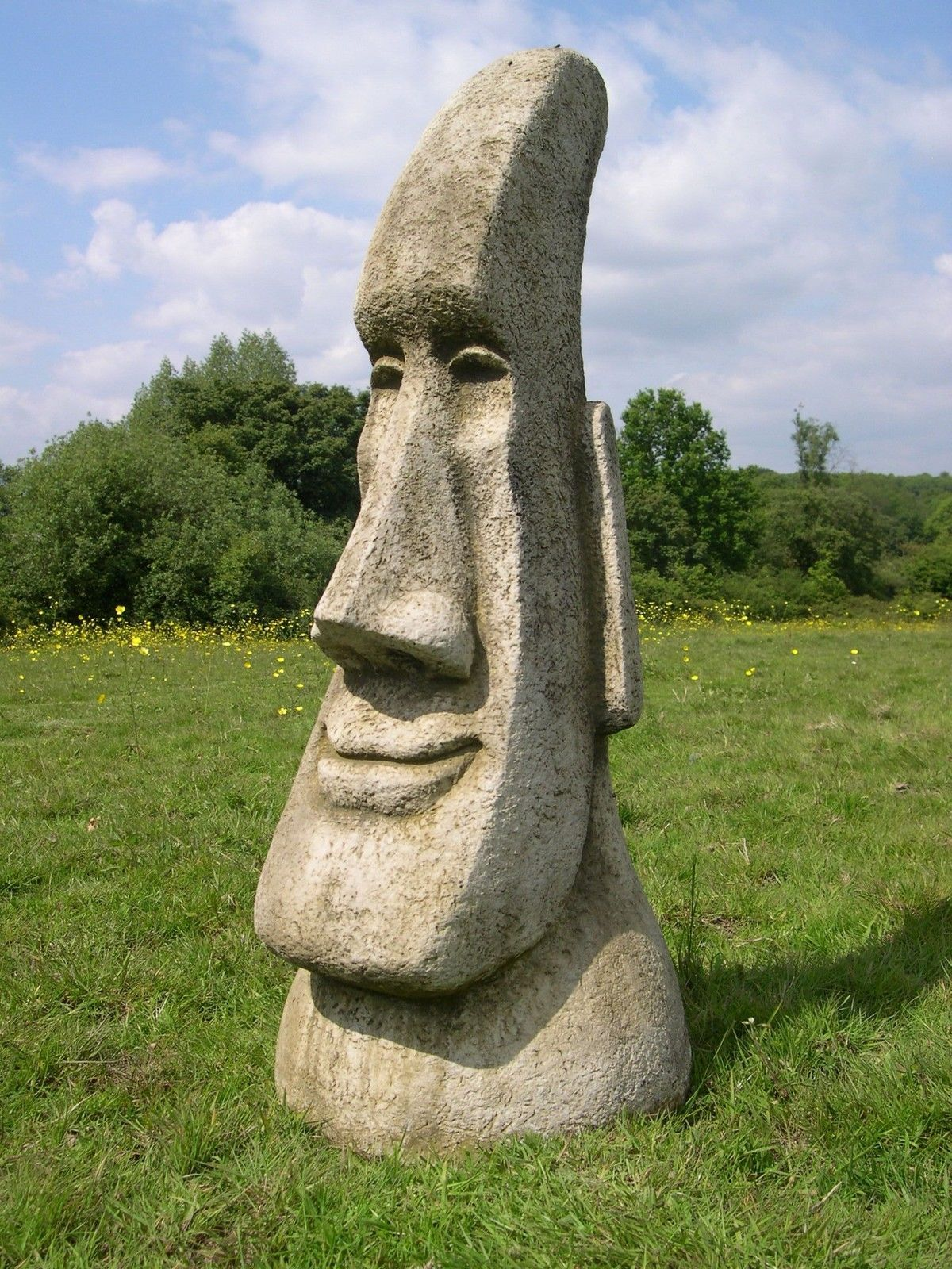 #Stunning Easter #island Head Garden Tiki #statue, View More On The LINK