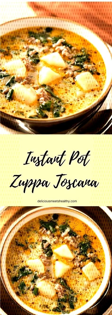 This rich and hearty Instant Pot Zuppa Toscana is comfort food at its best. It is truly satisfying