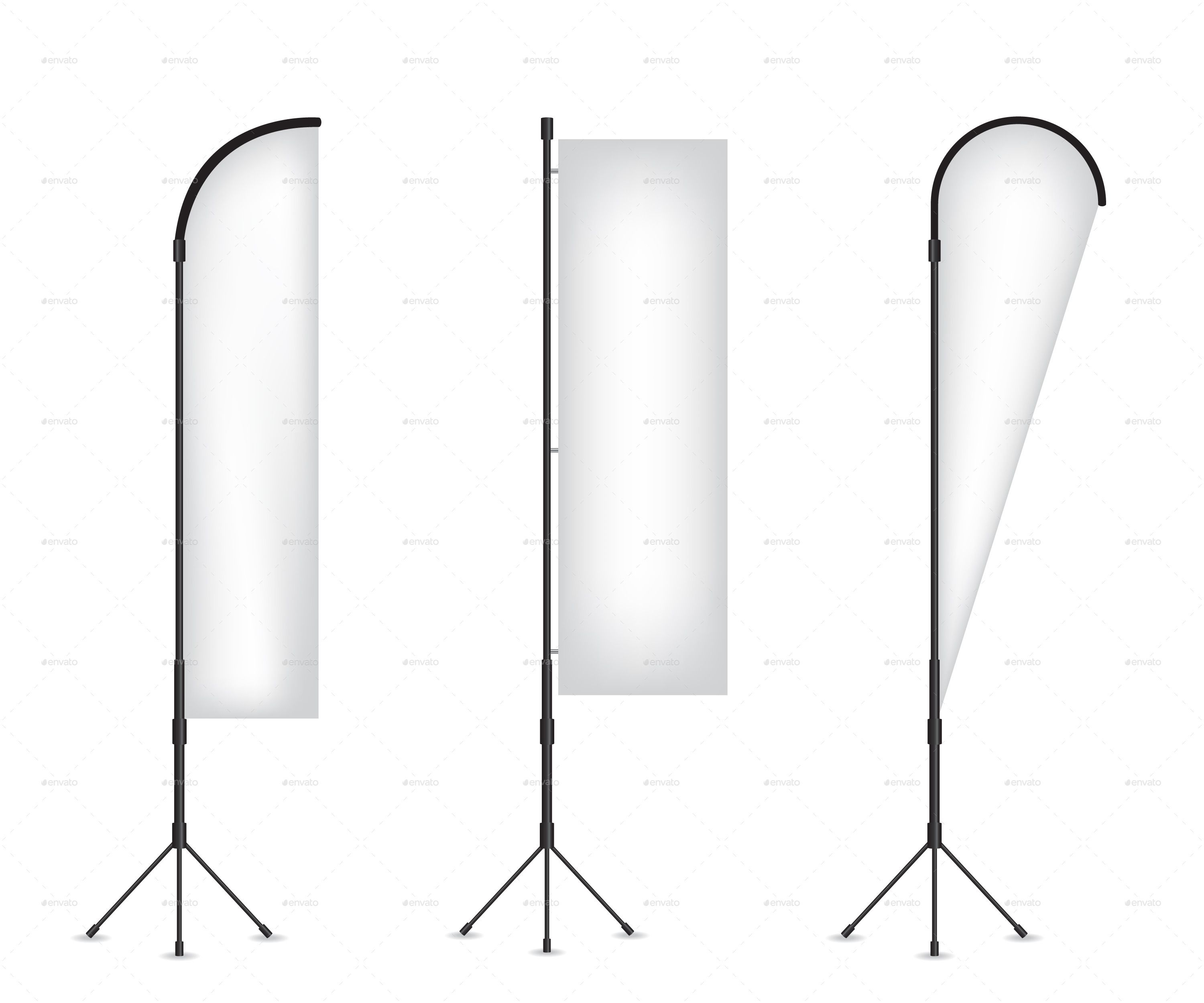 Set Of Flag Banner Stand Banner Stands Flag Banners Banner Template Design