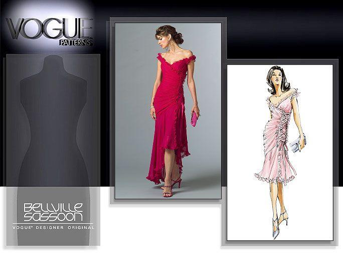 Vogue Patterns 2880 - MISSES\' DRESS Red Latin ballroom dress pattern ...