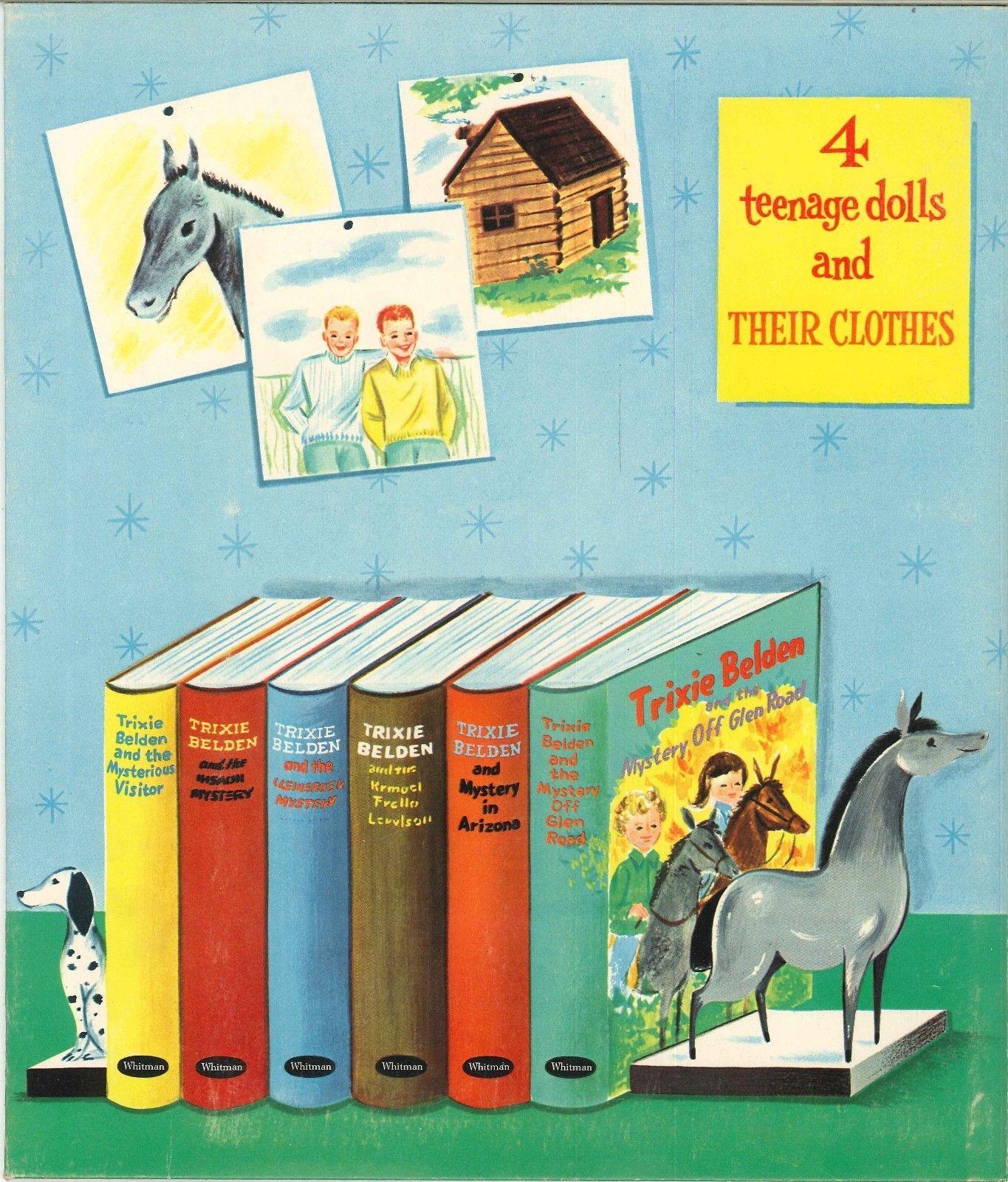 VINTGE 1958 TRIXIE BELDEN PAPER DOLLS ~HD LASER REPRO LO PRICE~NO 1 SLR FREE SH