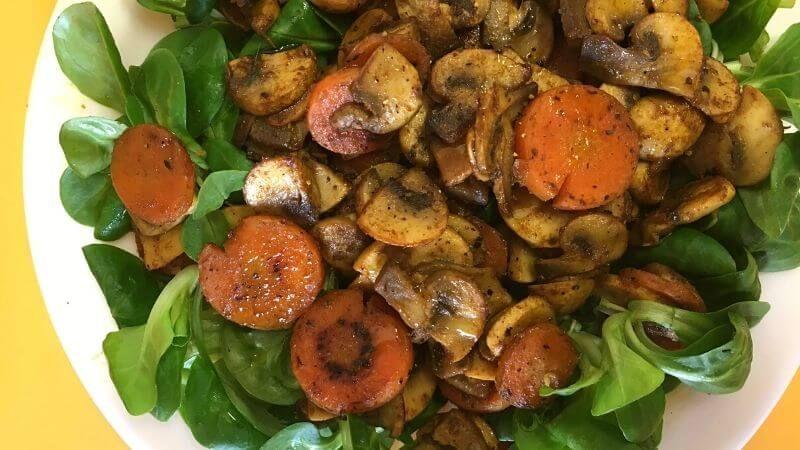 Ensalada con zanahoria y champiñones al curry   Tasty details Gallery