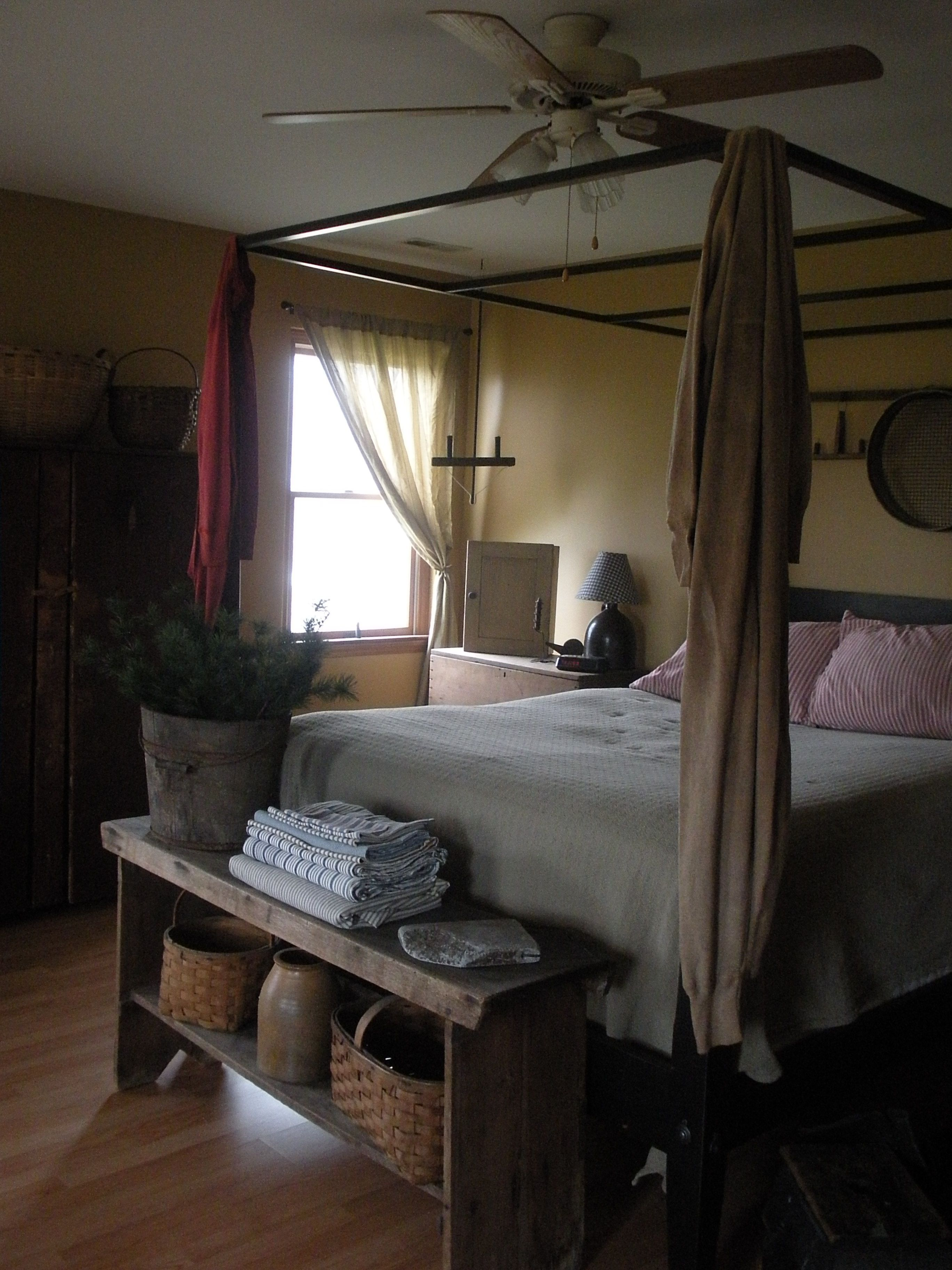 Pin by Nancy Hellweg on Thyme for Bed Primitive bedroom