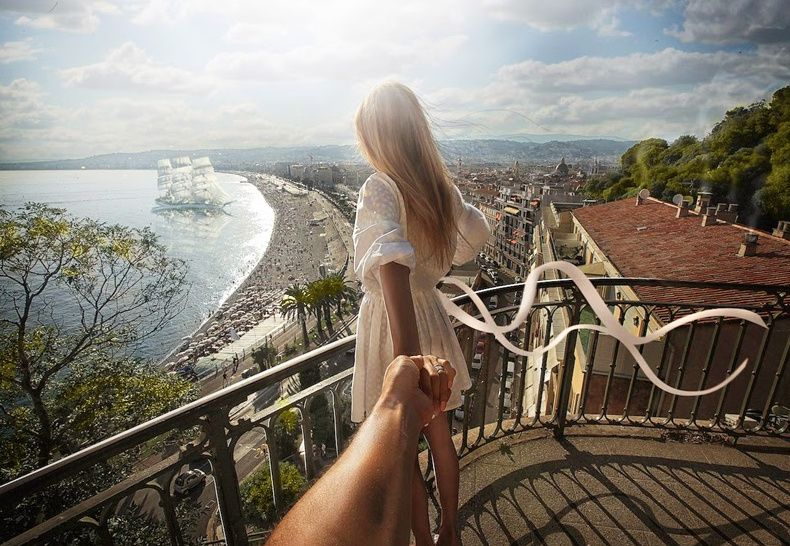 104. #followmeto the beautiful Nice in France. 19 March 2014 (the 104th pic of the photo series by Russian Photographer, Murad Osmann)