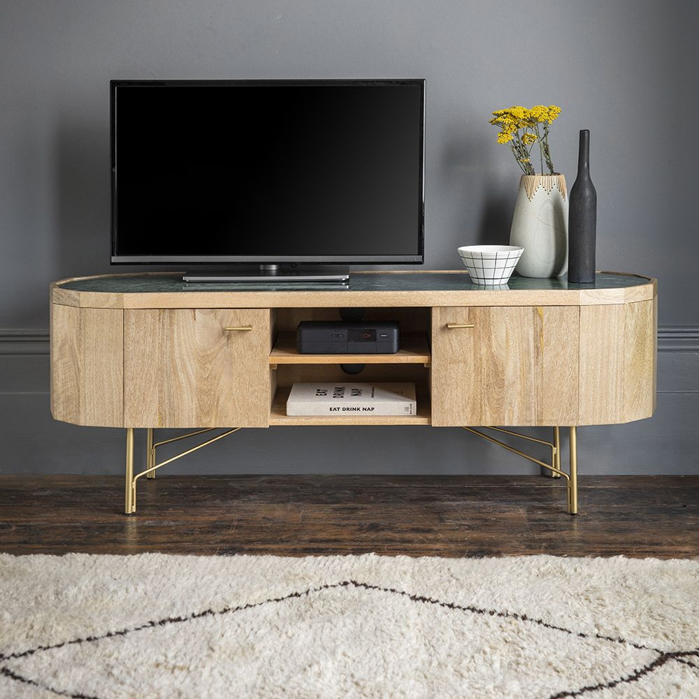 Jade Marble Media Unit Media Unit Living Room Tv Stand Wooden Media Unit