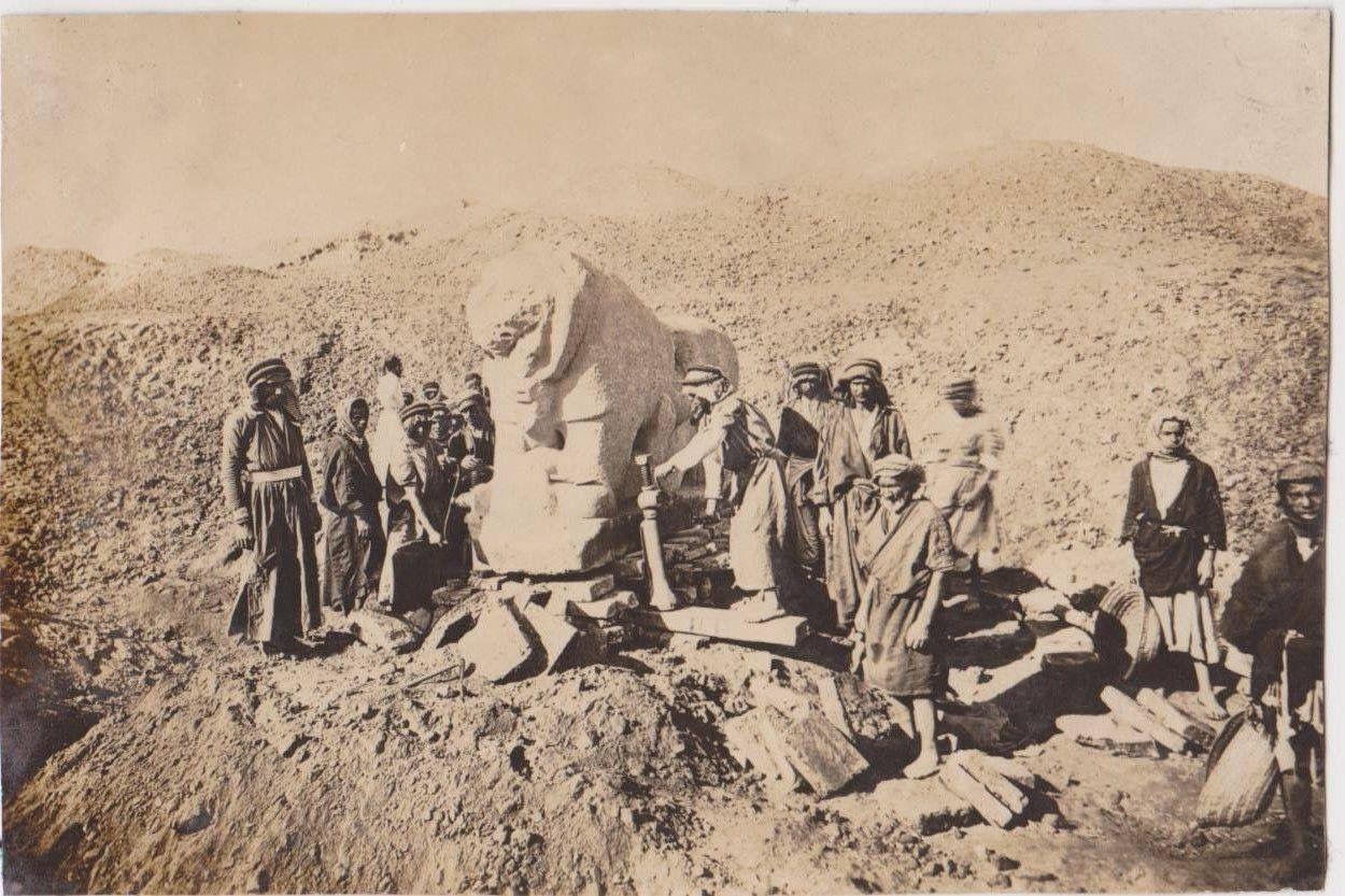 أسد بابل عام 1924 Babylon Iraq Baghdad