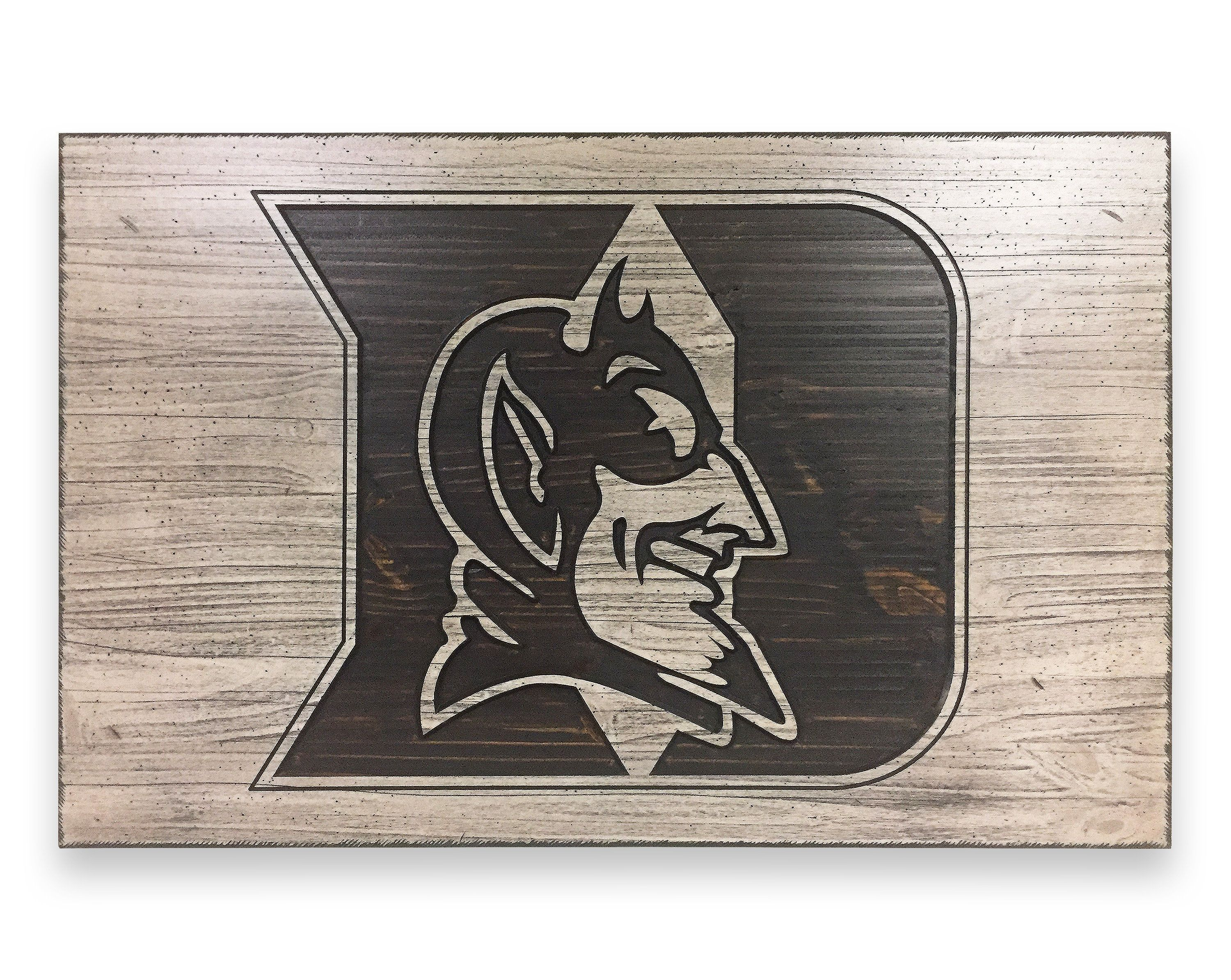 Duke Basketball Sign Wood Wall Art Carved 3d Duke Blue Devils