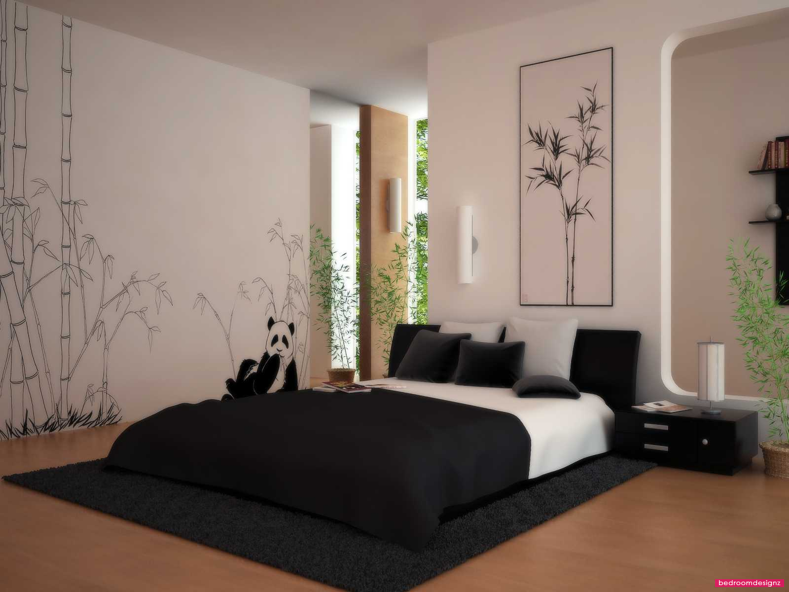 Comfortable Asian Bedroom Design Ideas With