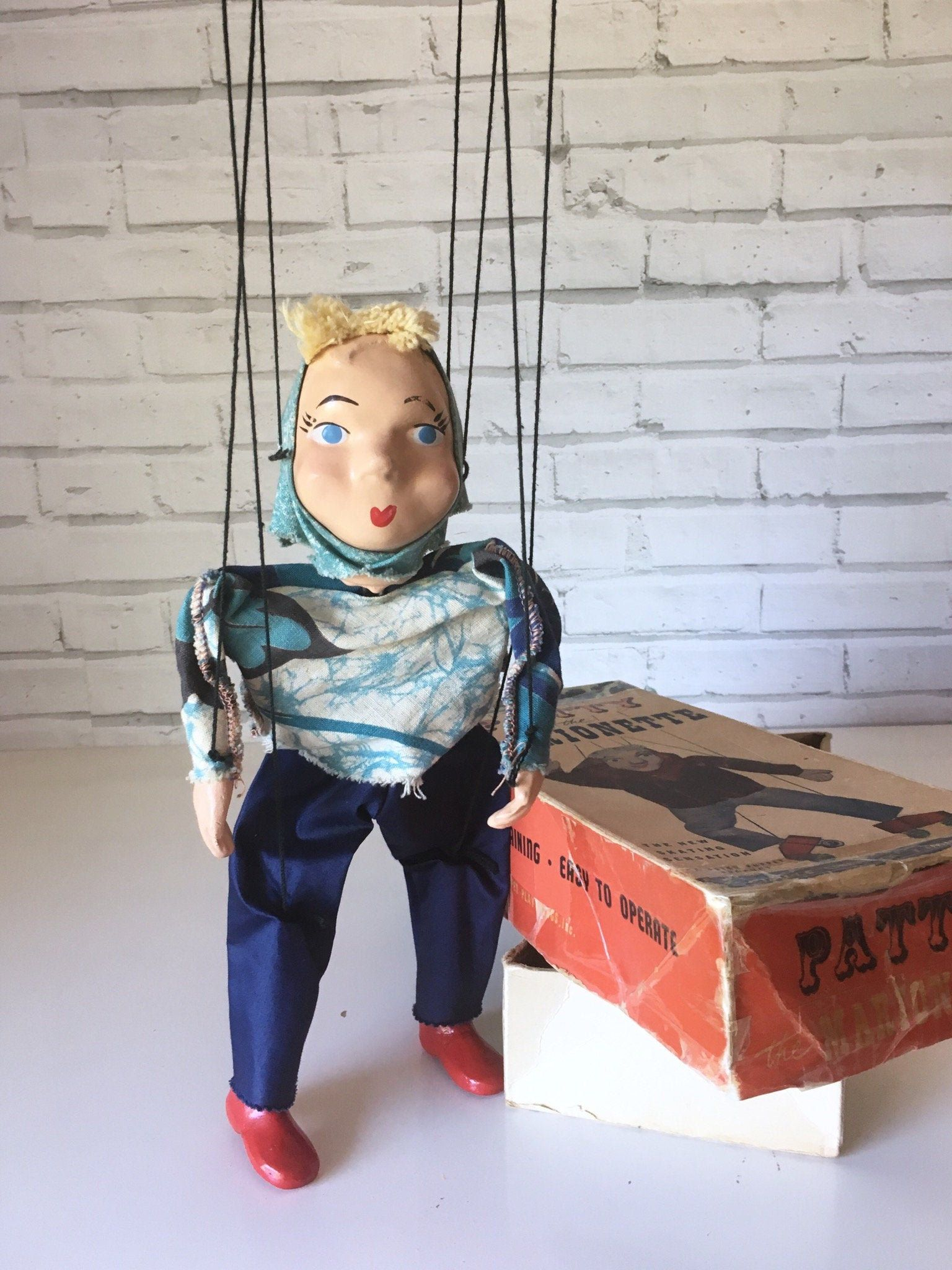 Vintage Patty The Marionette Puppet In Box Pat The Marionette Marionette Puppet Puppets