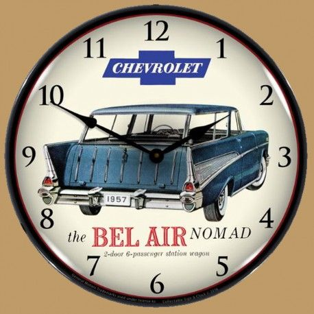 Horloge Lumineuse Retro Eclaire Chevrolet Bel Air Nomad 1957 Chevrolet Bel Air Wall Clock Light Bel Air