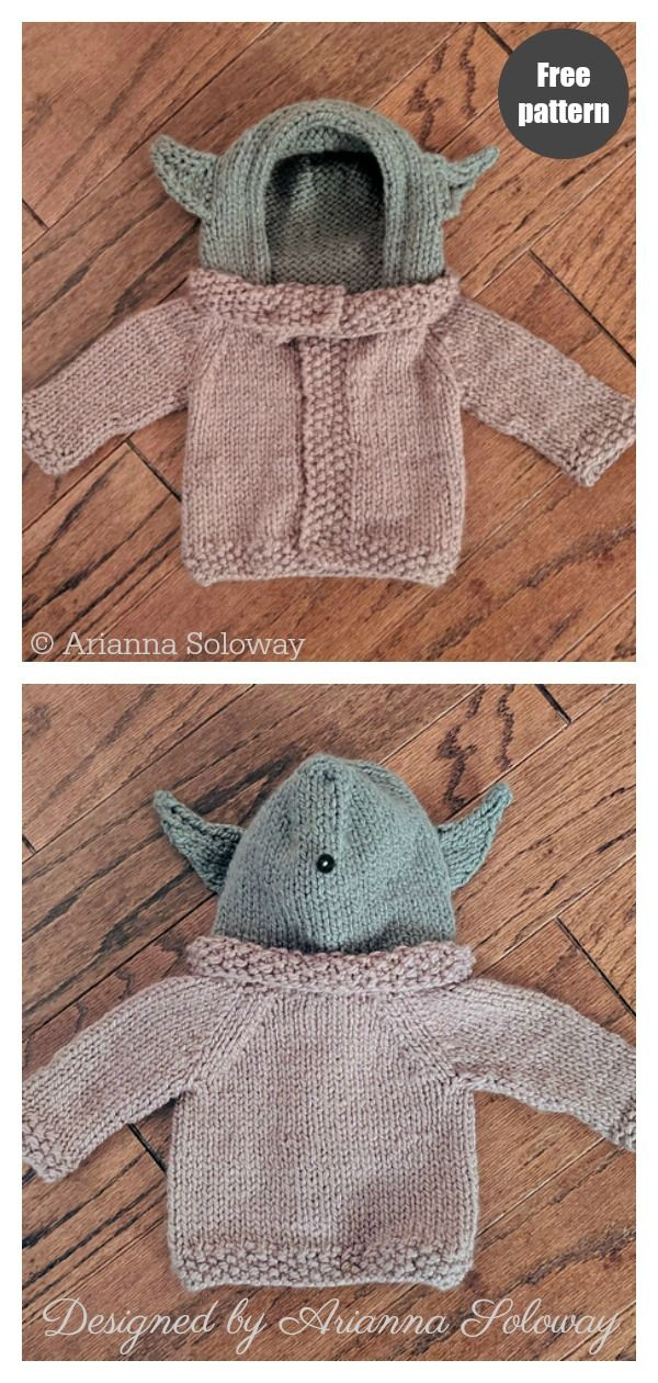 Photo of Baby Yoda Sweater Free Knitting Pattern