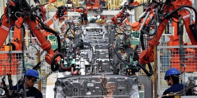 China today  - China robot factory  - Rising number of