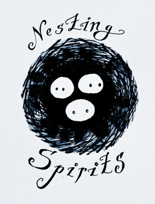 Nesting Spirits. There will be a brand and there will be a logo. These are first sketches of our new logo (by Sova Hůová).