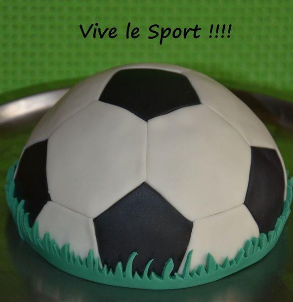 deco gateau ballon de foot