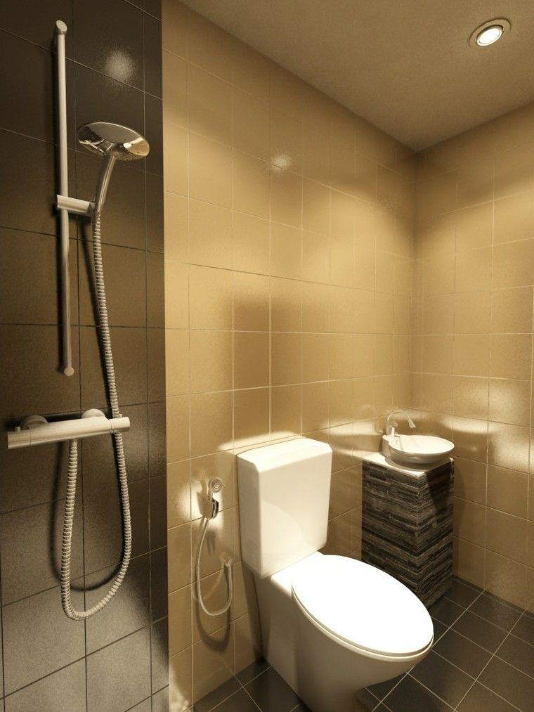 Ba os peque os con ducha 38 dise os de moda ideas para for Diseno de cuartos de bano pequenos con ducha